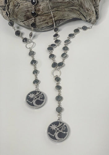 Far Off Galaxy Rosary Necklace