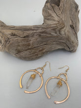 Load image into Gallery viewer, Golden Moon Dangle Earrings