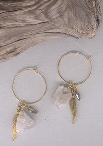 Rough Rock'd Hoop Earrings