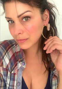 Got The Goods Gemstone Hoop Earrings