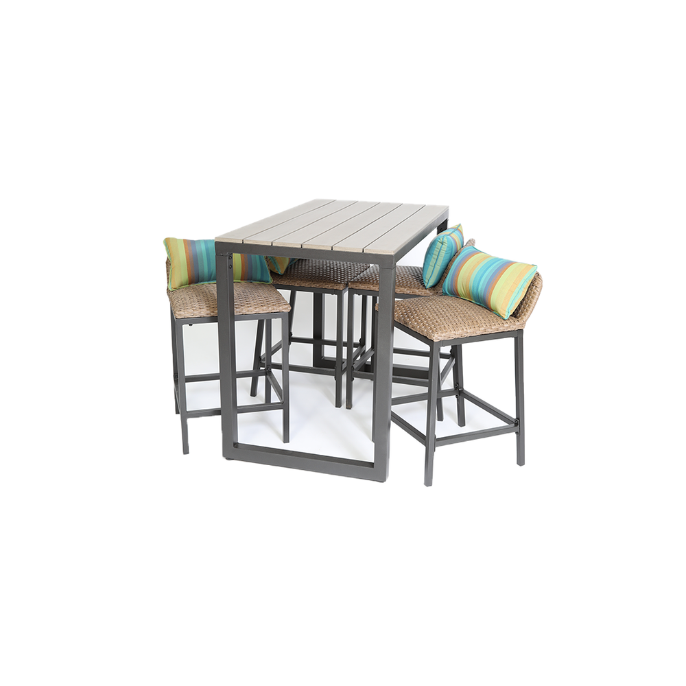 Concordia 5 Piece Outdoor High Dining Set