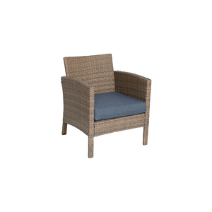 Oakland Heights 4 Piece Seating Set Chair with a Blue Cushion