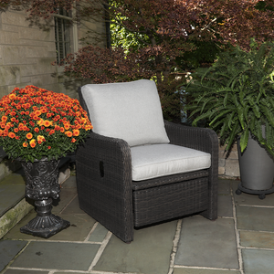 Arcadia Motion Recliner lifestyle image on a patio
