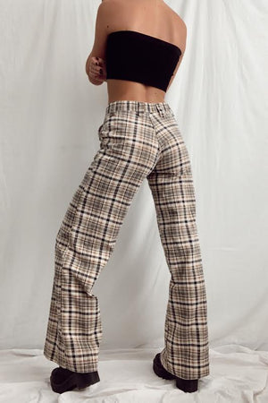 70's Plaid Flare Pants (26/27)