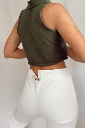 Cropped Olive Green Tank