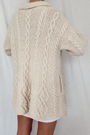 Hand Knit Irish Knit