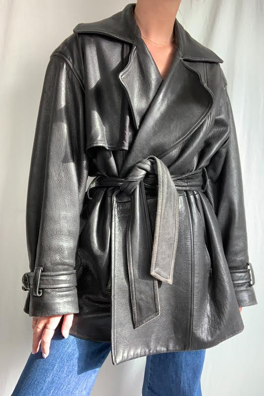 Vintage Leather Jacket (S-M)