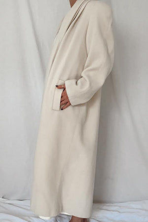 White Wool Duster