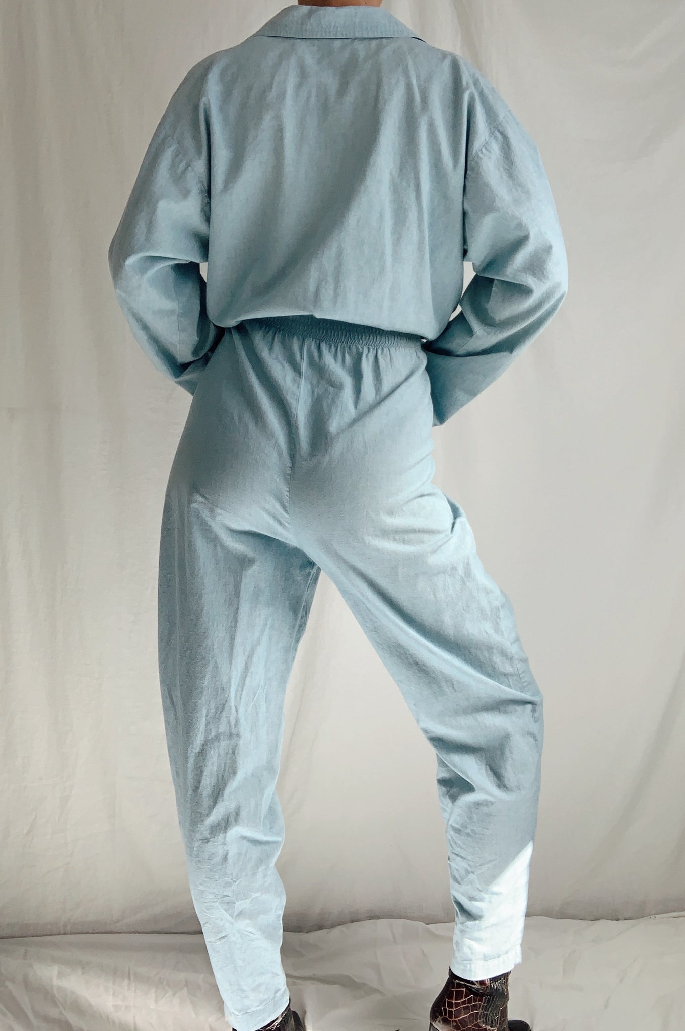 80's Cotton Coverall Jumpsuit (M)