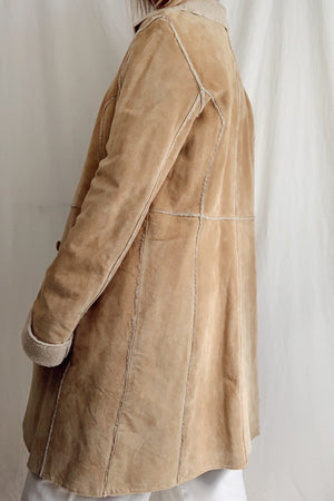Vintage Honey Suede Coat (M)