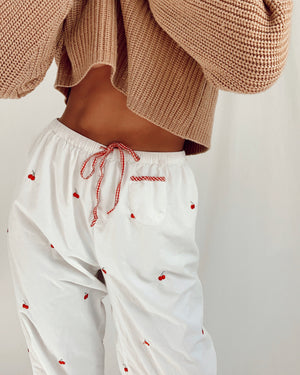 Vintage Cherry Cotton PJ Pants (S)