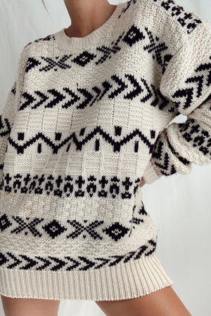 Vintage Oversized Wool Knit (S-L)