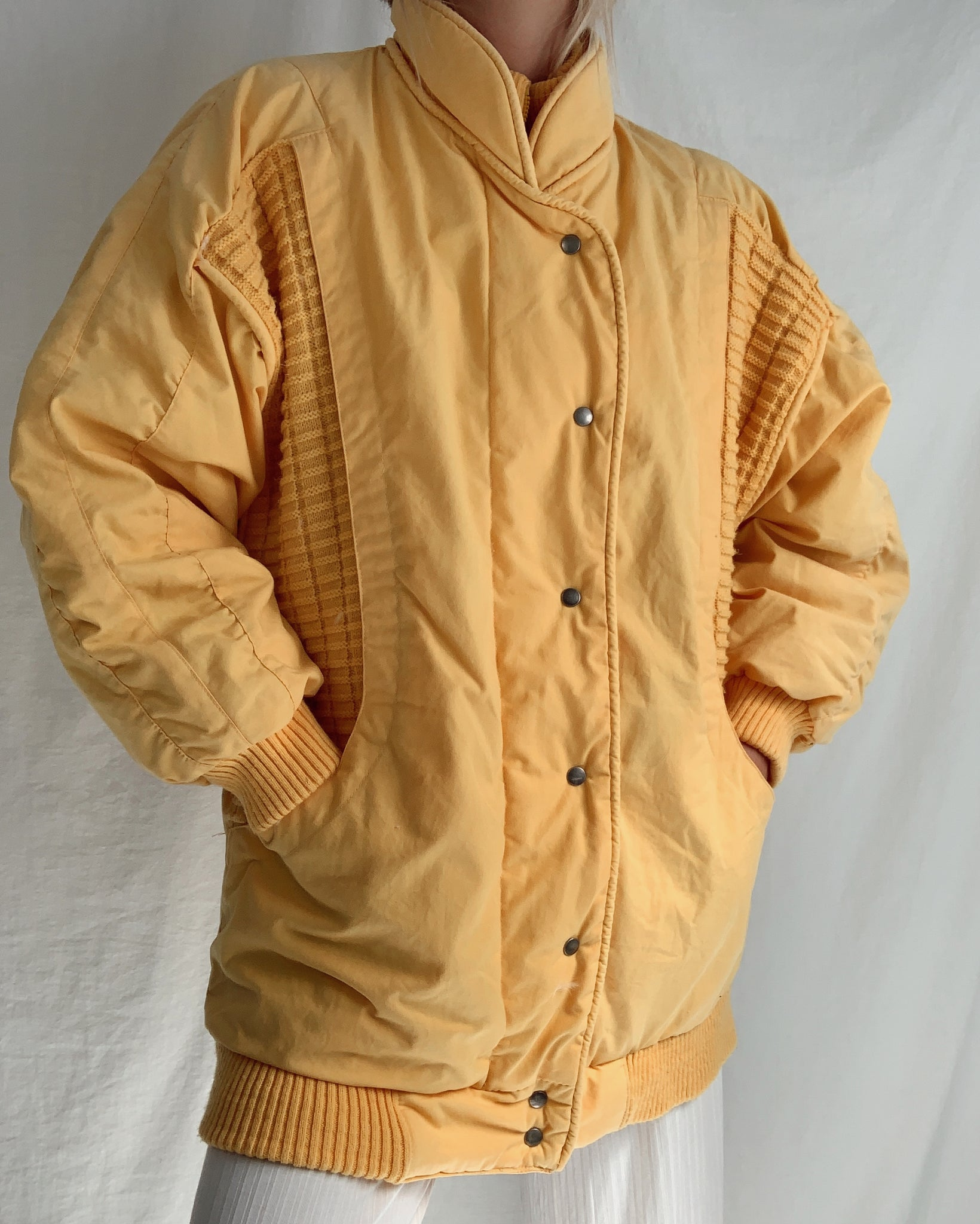 Vintage Puffer Down Jacket (S-M)