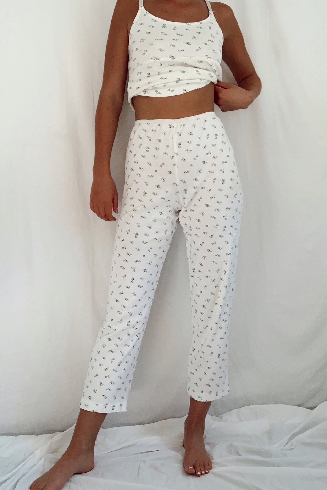 Vintage 3 Piece Cotton PJ Set (S-M)