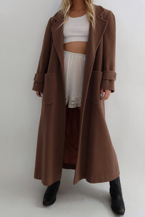 Pure Wool Chocolate Duster (S-L)