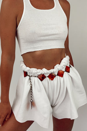 Lucite Amber Chain Belt (S-M)