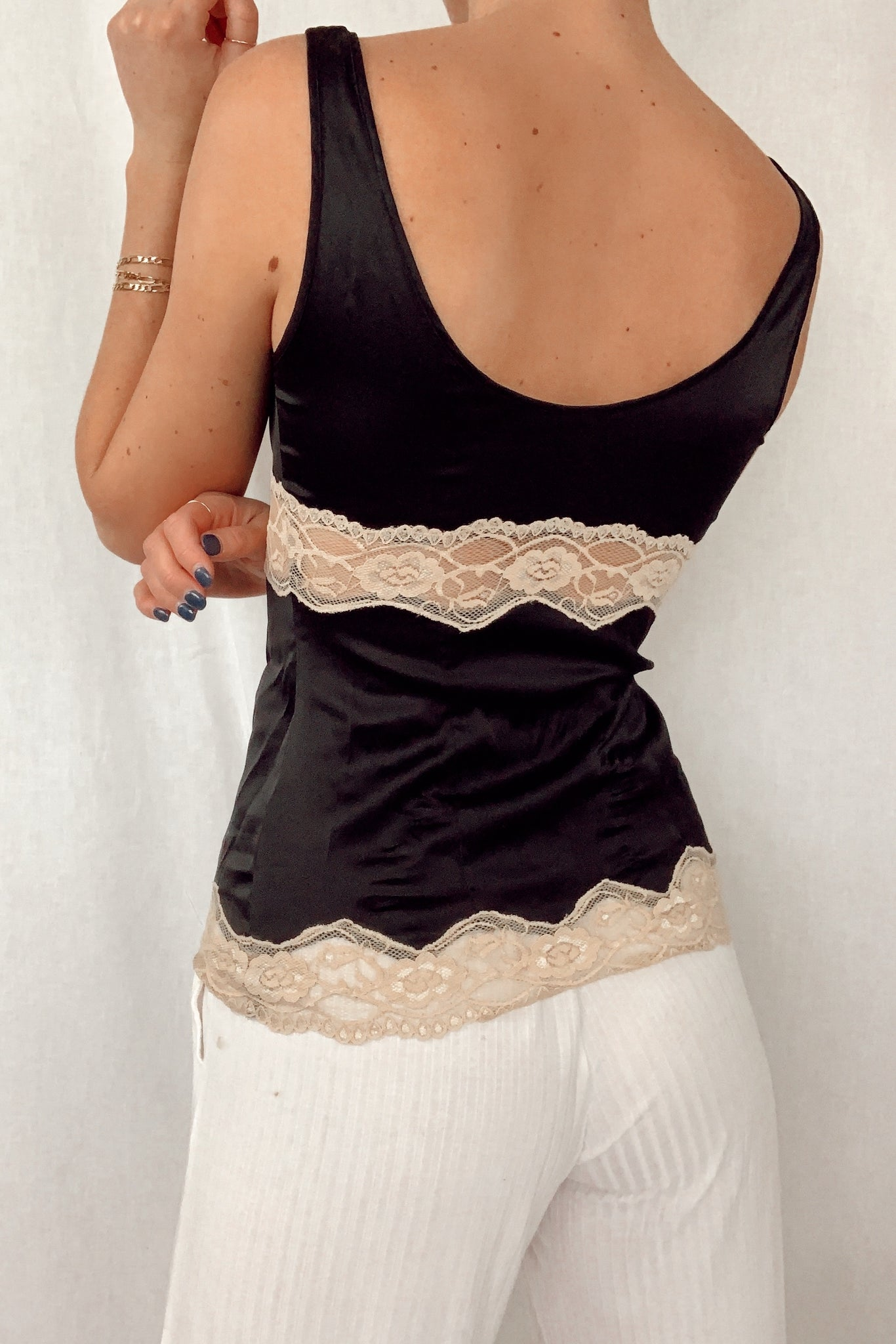 Silk & Lace Embroidered Cami