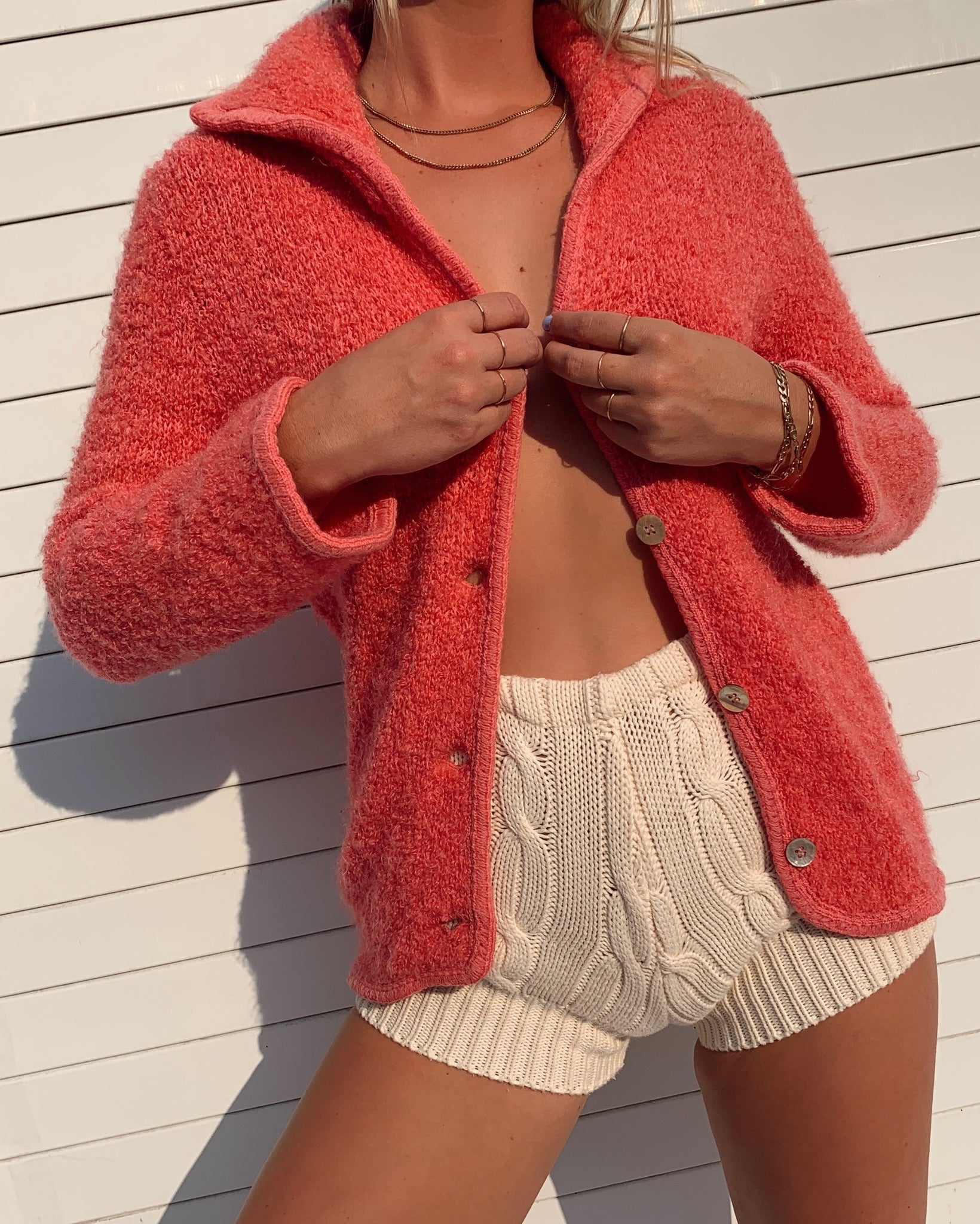 Pink Knit Cardigan (S)