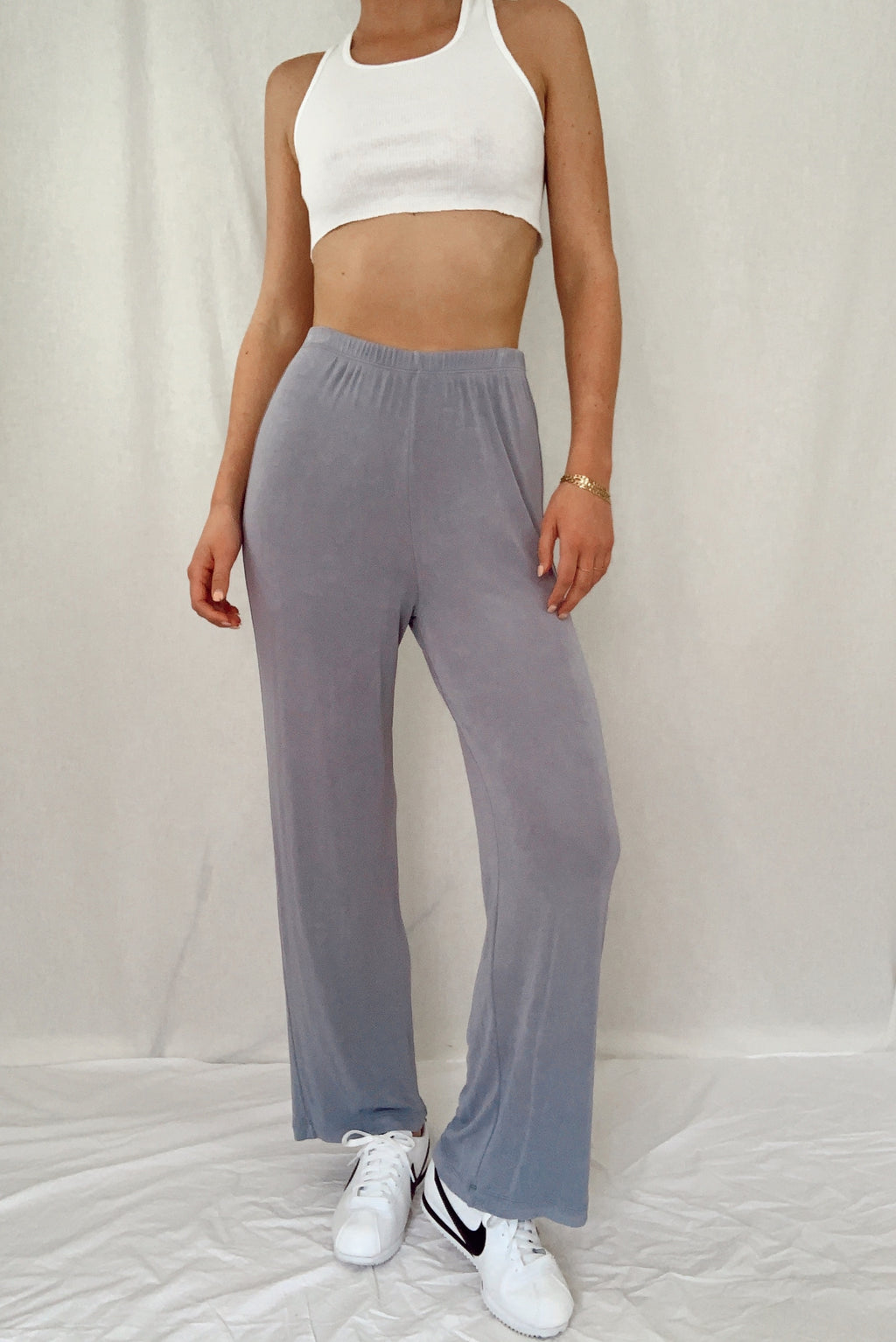 Sky Blue Silky Lounge Pants