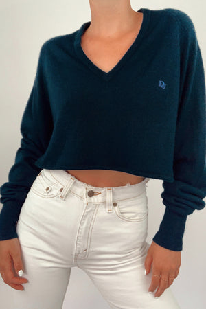 Dior Cropped Navy Sweater (S-L)
