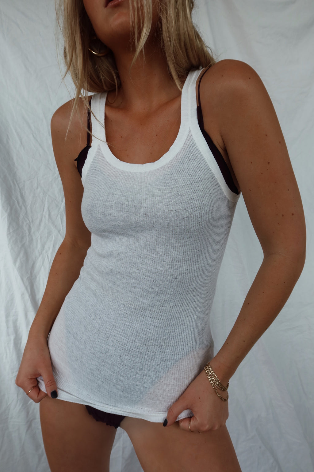 50's cotton night tank (S)