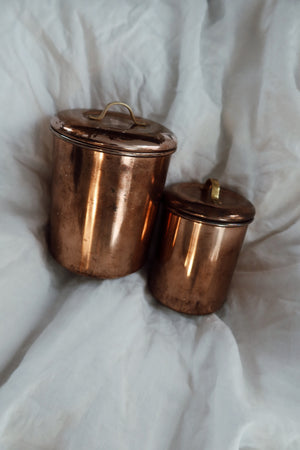 Small Copper Canister Set