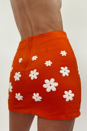 Hand Made Floral Mini Skirt (25/26)
