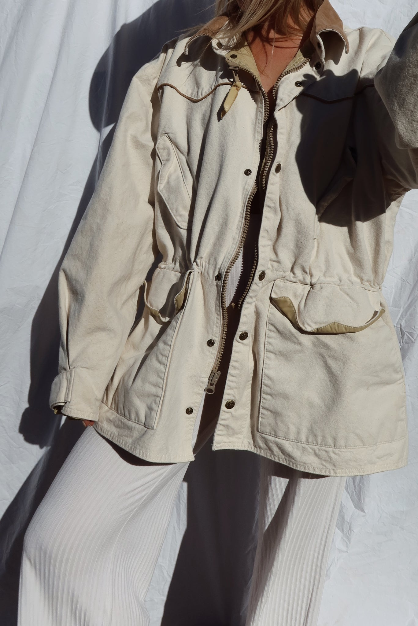 Cotton Cream Coat (L)