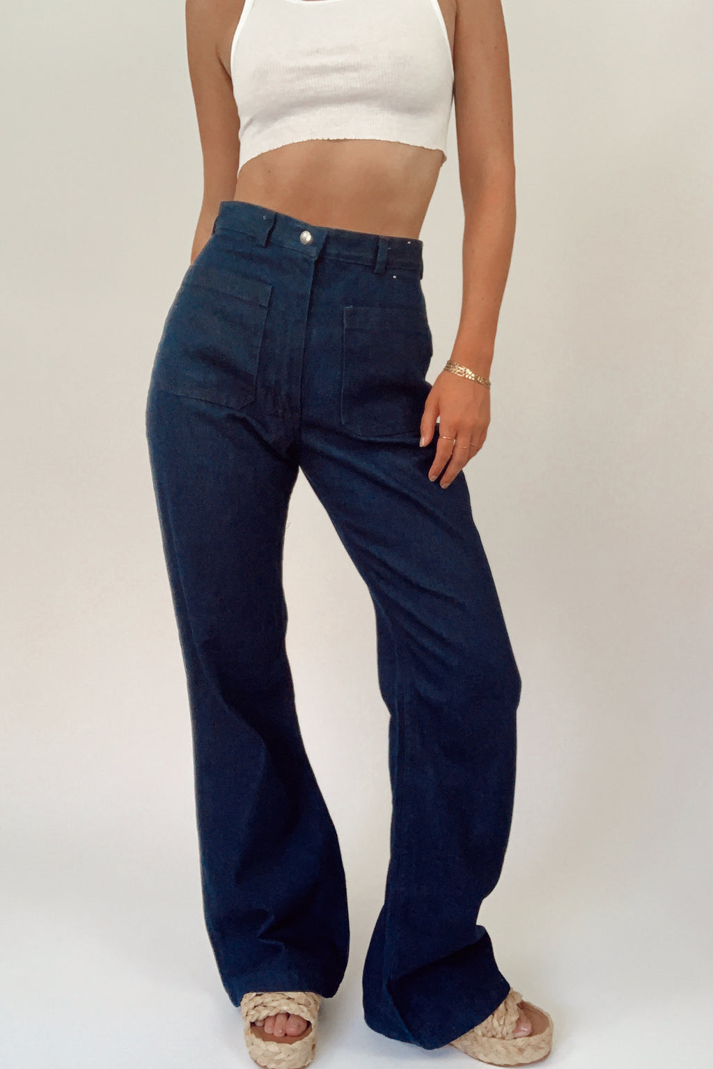 Dark Wash Seafarer Bell Bottoms (26)