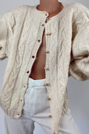 Hand Knit Norwegian Cardigan (One Size)