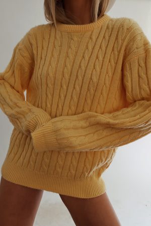 Yellow Knit (S-L)