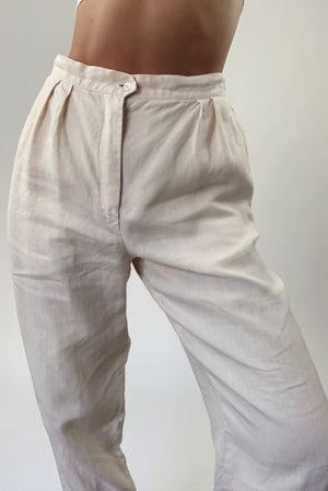Pleated Linen Trousers (26)