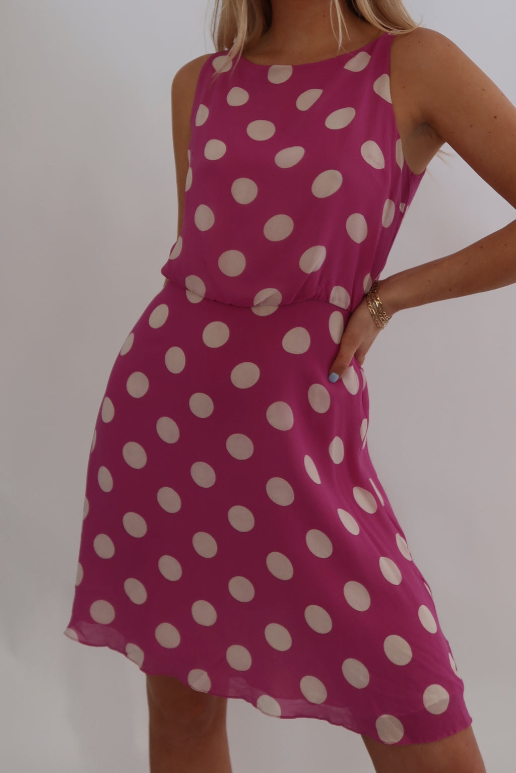 Fun Silk Polk-A-Dot Dress (S)