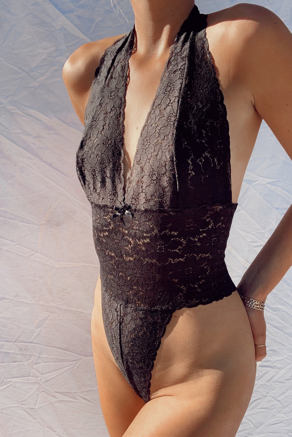Lace Halter Top Bodysuit (S-M)