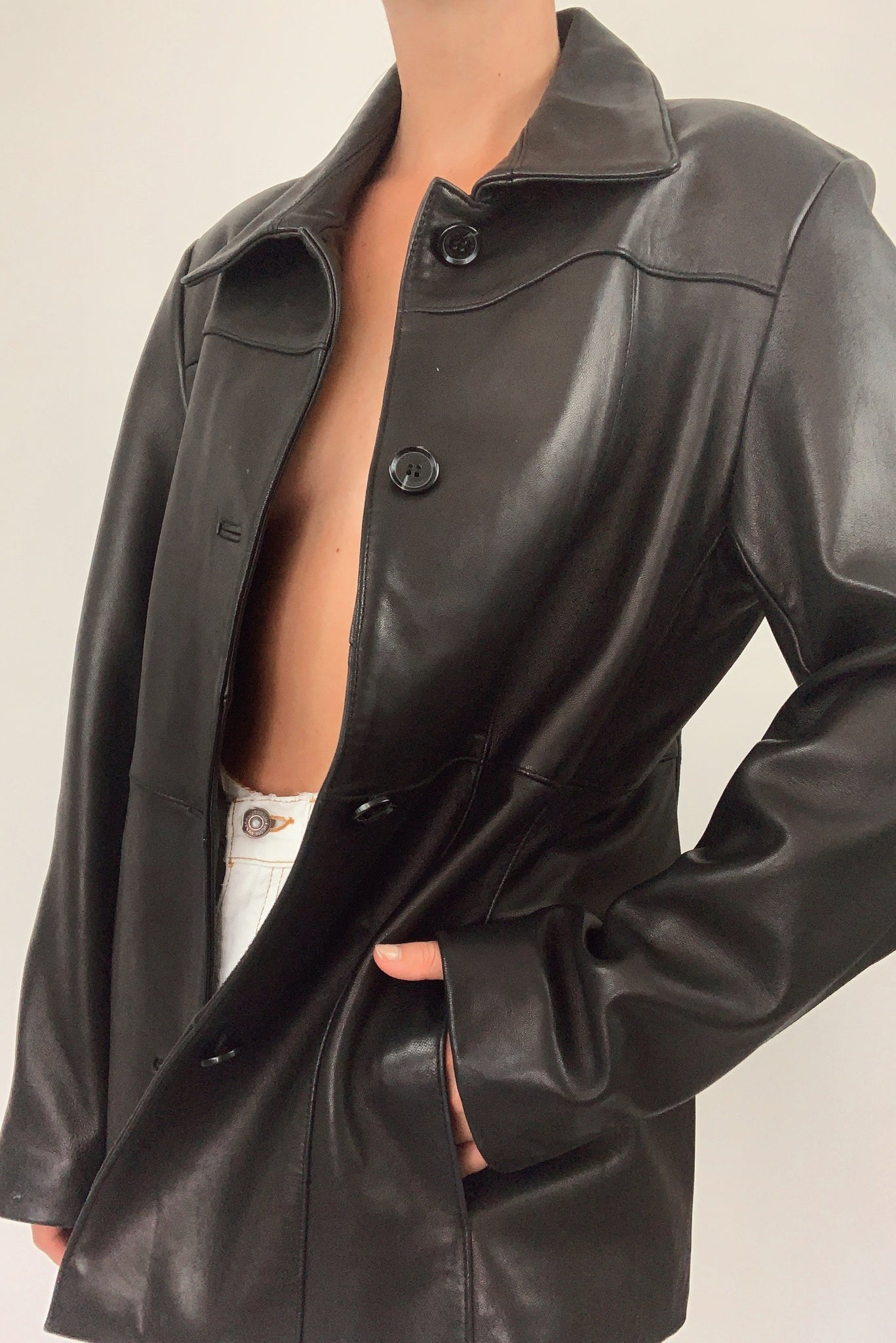 Gorgeous Leather Jacket (S-M)