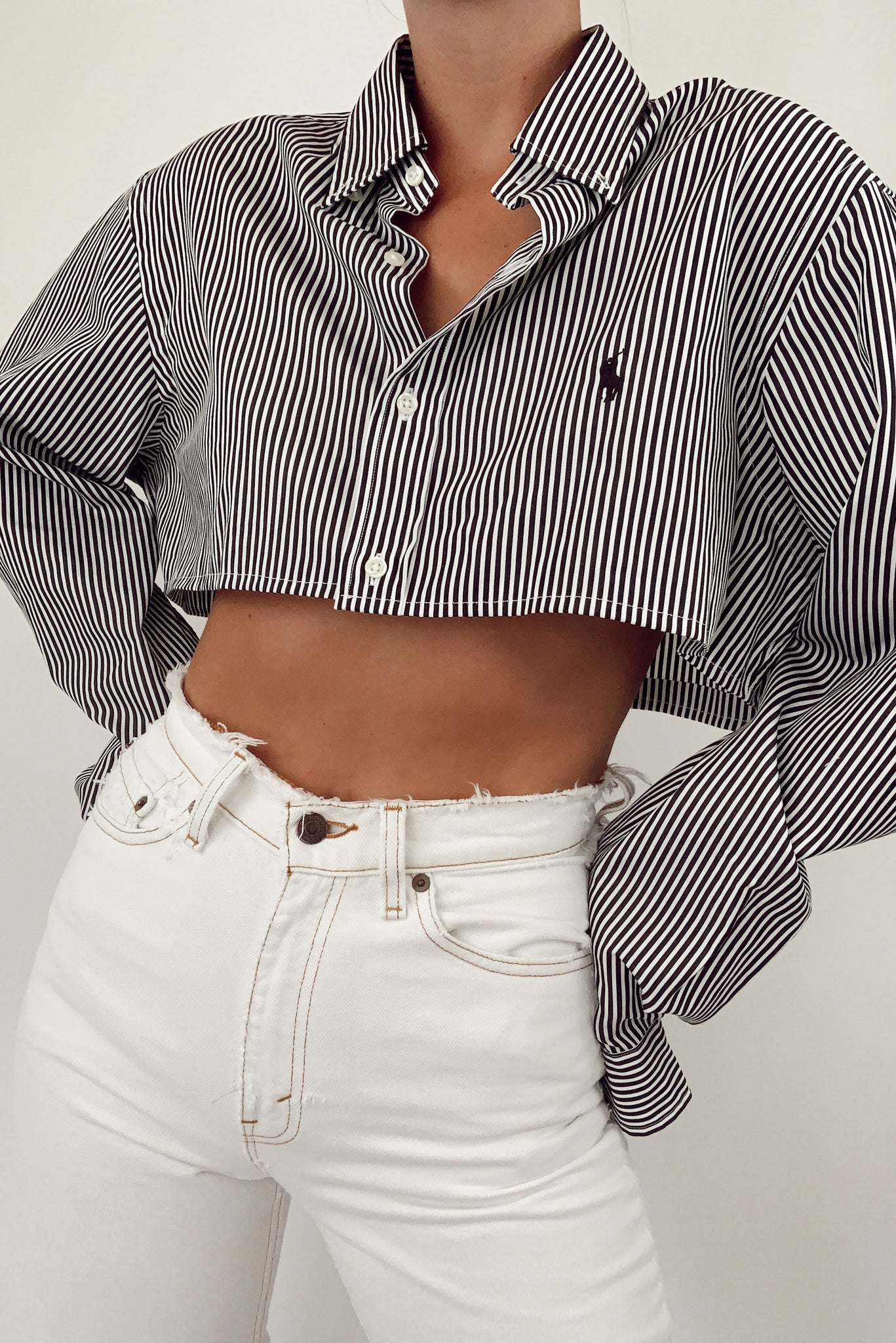 Reworked Cropped Ralph Lauren Button Down (S-L)