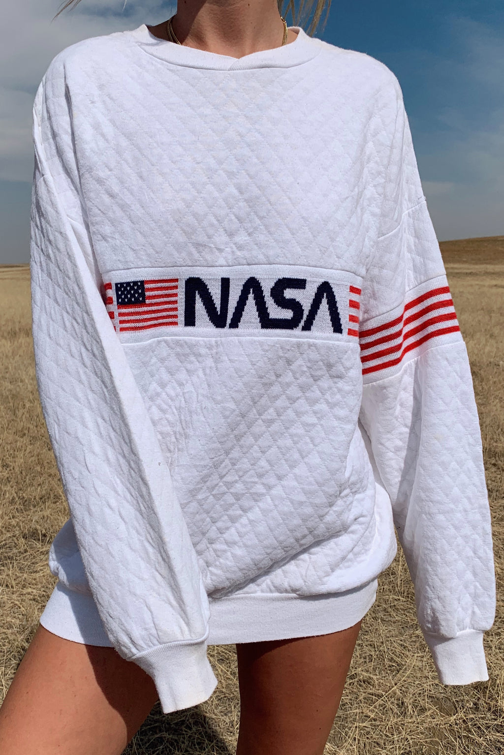 Quilted NASA Crew Neck (S-L)