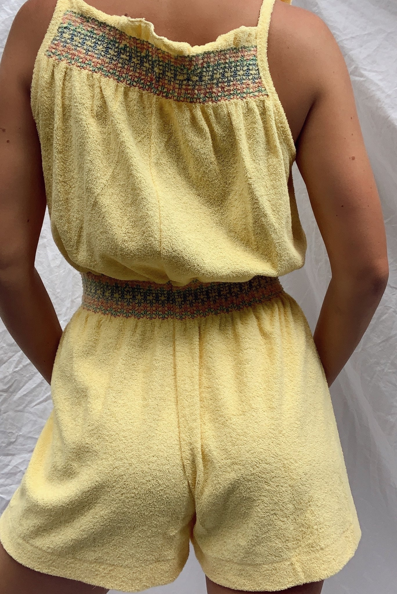 70's Terry Cloth Romper (S-M)