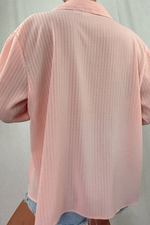 Blush Button Down Blouse (S-L)