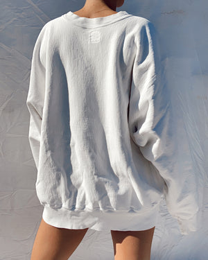 White Crew Neck Sweatshirt (S-L)
