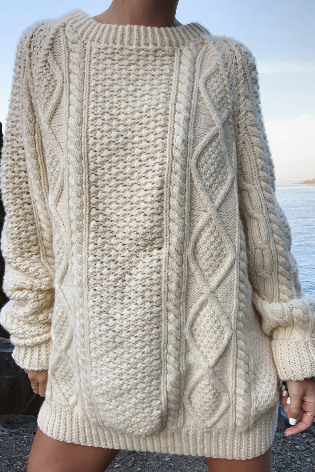Chunky Irish Hand Knit Sweater (S-L)