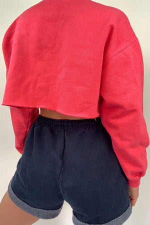 Cropped Pink Crew Neck (XS-S)