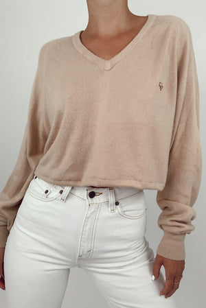 Dior Cropped Camel Sweater (S-L)
