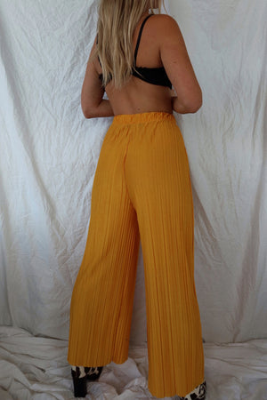 silky flare trousers (S)