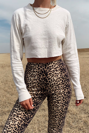 Softest Cotton Cropped Long Sleeve (S-M)