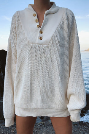 Cream Henley (S-L)