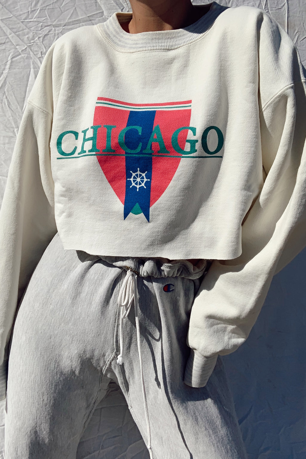 Cropped Chicago Crew Neck (S-L)
