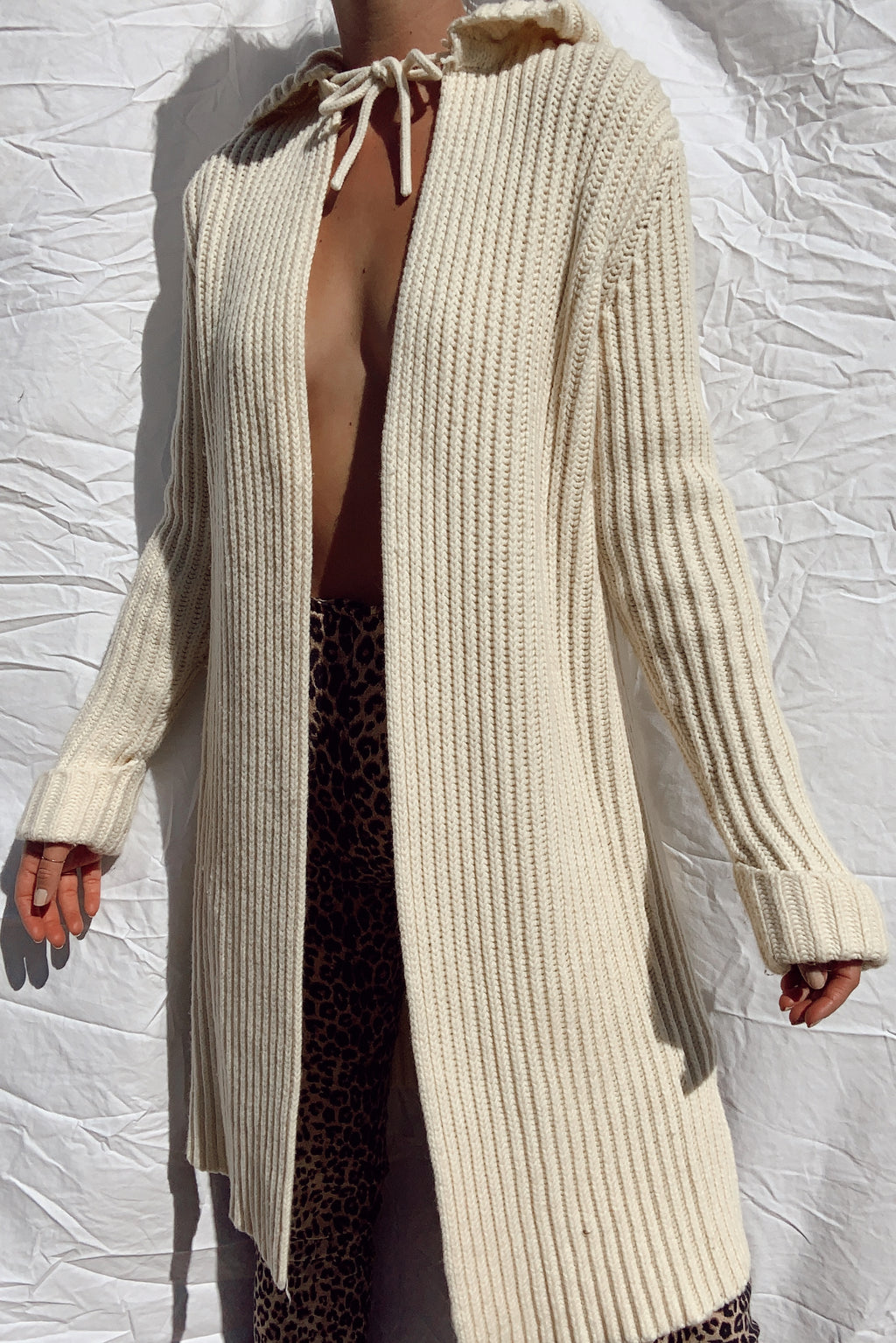 Hooded Wool Cardigan (S-M)