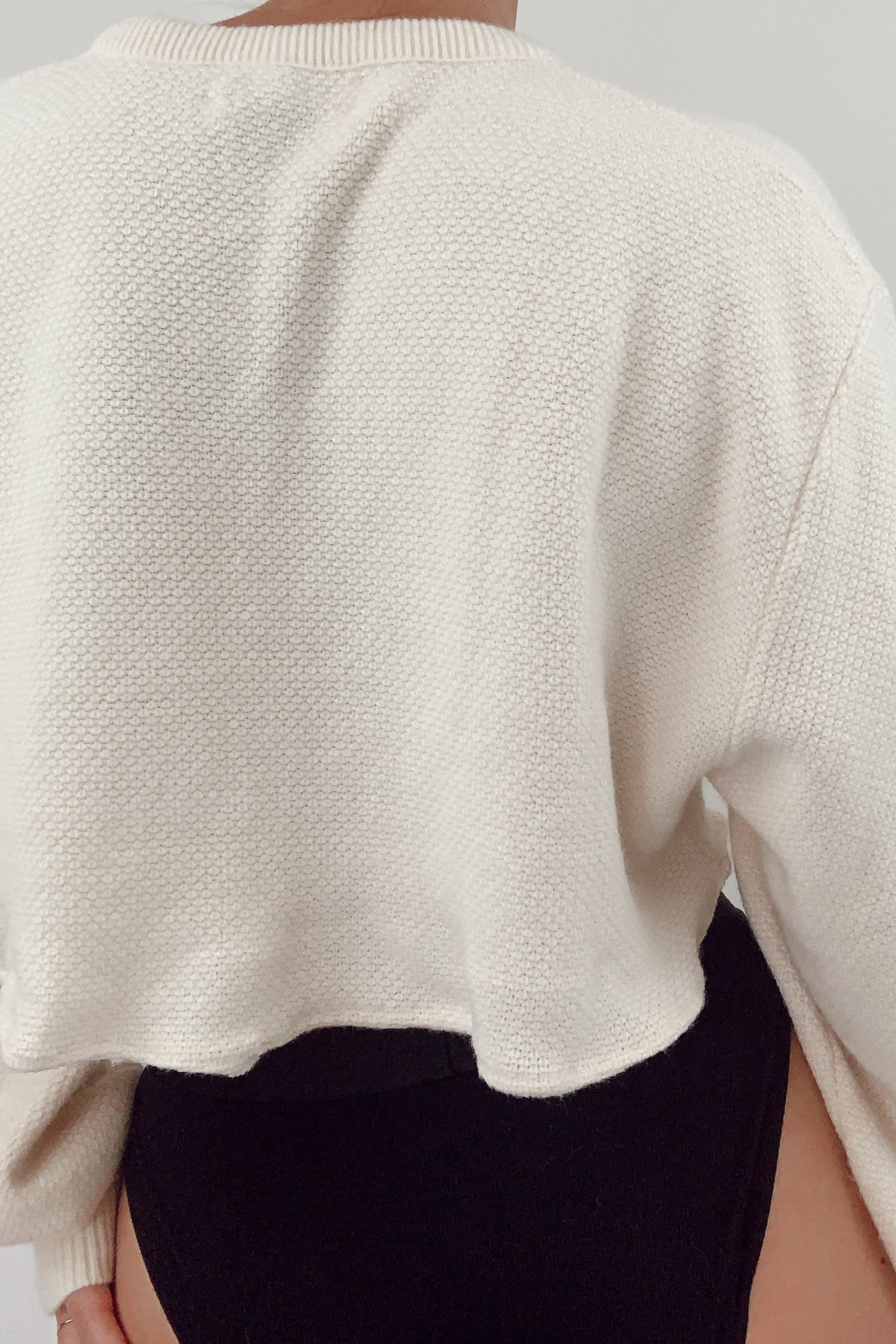 Cream Cropped Christian Dior Knit (S-L)