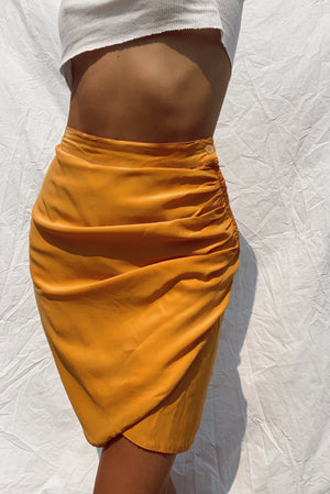 Hi Rise Silk Skirt (24/25)